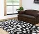 Jaipur Rugs - Hand Tufted Wool and Viscose Grey and Black TRA-323 Area Rug Roomscene shot - RUG1063537