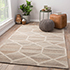 Jaipur Rugs - Hand Tufted Wool and Viscose Beige and Brown TRA-350 Area Rug Roomscene shot - RUG1077048