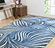 Jaipur Rugs - Tibetan Wool and Bamboo Silk Blue YNB-06 Area Rug Roomscene shot - RUG1055017