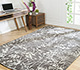 Jaipur Rugs - Hand Knotted Wool and Bamboo Silk Grey and Black YNB-09 Area Rug Roomscene shot - RUG1055020